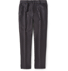 Christopher Kane Slim-Fit Cube Jacquard Trousers