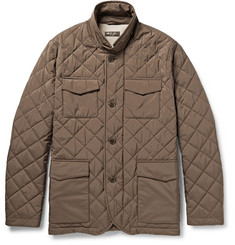 Loro Piana Journey Storm System Quilted Shell Field Jacket