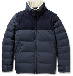 Loro Piana Convertible Quilted Shell Down Jacket