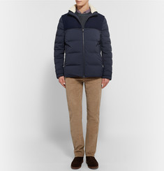 Loro Piana Dweller Windmate® Storm System Convertible Quilted Shell Down Jacket
