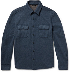 Loro Piana Knitted Cashmere-Blend Shirt Jacket