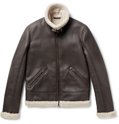 Loro Piana Aviator Flyer Shearling Bomber Jacket