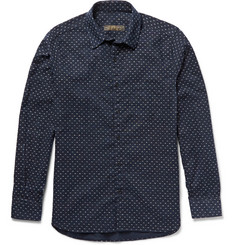 Freemans Sporting Club Printed Indigo-Dyed Cotton-Canvas Shirt