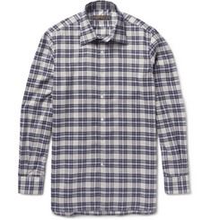 Freemans Sporting Club Checked Cotton and Wool-Blend Flannel Shirt