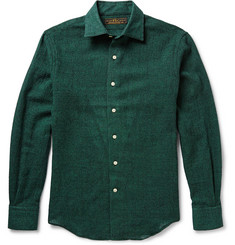 Freemans Sporting Club Hopkins Houndsooth Wool-Flannel Shirt