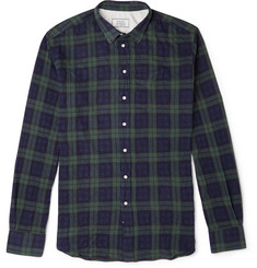 Officine Generale Black Watch Checked Cotton-Blend Twill Shirt