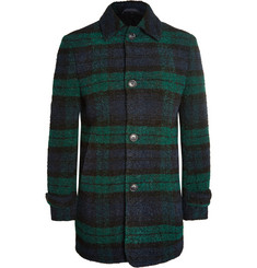 Officine Generale Checked Wool-Blend Bouclé Overcoat