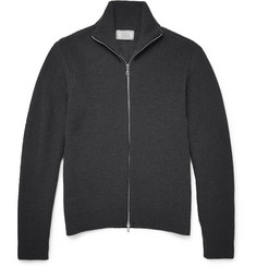 Officine Generale Zip-Up Merino Wool Sweater
