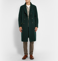 Massimo Alba Double-Breasted Wool-Blend Overcoat