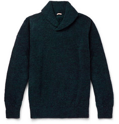 Massimo Alba Shawl-Collar Alpaca and Wool-Blend Sweater