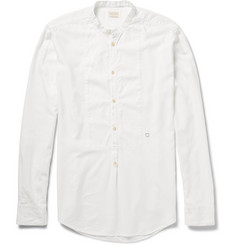 Massimo Alba Bib-Front Modal and Cotton-Blend Twill Henley Shirt