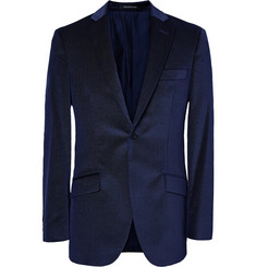Richard James Pin-Dot Velvet Blazer