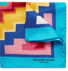 Richard James - Printed Silk-Twill Pocket Square