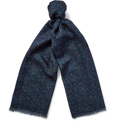 Richard James Donegal-Print Cashmere and Silk-Blend Scarf