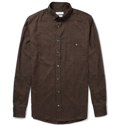 Richard James Slim-Fit Gingham Brushed-Cotton Shirt