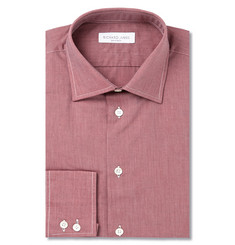 Richard James Brick End-On-End Cotton Shirt