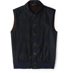 Richard James Checked Wool Gilet
