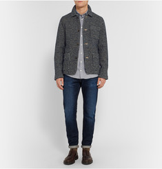 Richard James Checked Woven Wool-Blend Jacket