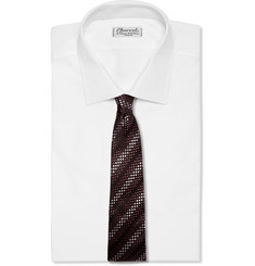 Richard James Dotted Silk-Jacquard Tie
