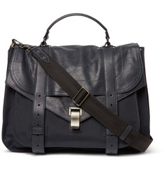 Proenza Schouler - PS1 Extra Large Leather and Canvas Messenger Bag