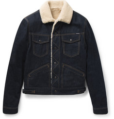 Tom Ford Shearling-Lined Denim Jacket