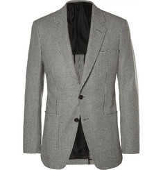 Tom Ford Grey Slim-Fit Houndstooth Wool Blazer