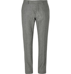 Tom Ford Grey Slim-Fit Houndstooth Wool Trousers