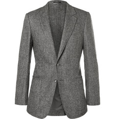 Tom Ford Herringbone Wool and Cashmere-Blend Blazer