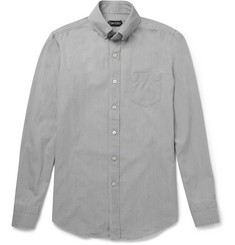 Tom Ford Slim-Fit Washed-Cotton Shirt
