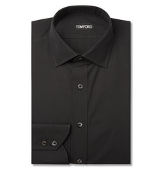 Tom Ford Black Slim-Fit Cotton Shirt