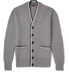 Tom Ford Stripe-Edged Cashmere Cardigan