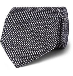 Tom Ford Woven Silk and Wool-Blend Tie