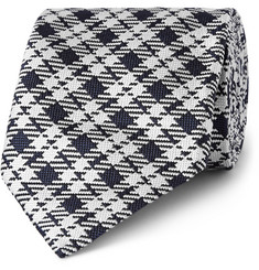 Tom Ford Checked Woven Silk Tie