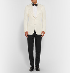 Tom Ford Black O'Connor Slim-Fit Wool and Mohair-Blend Tuxedo Trousers