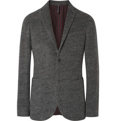 Incotex Grey Slim-Fit Felt Blazer