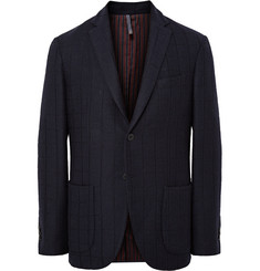 Incotex Navy Slim-Fit Wool-Blend Blazer