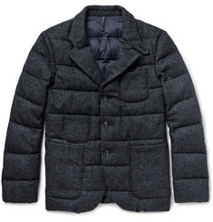 Incotex Down-Quilted Mélange Wool-Blend Jacket