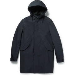 Incotex Hooded Cotton-Shell Coat