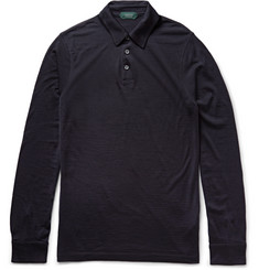 Incotex Slim-Fit Virgin Wool-Jersey Polo Shirt