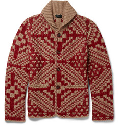 Incotex Slim-Fit Wool-Blend Jacquard Cardigan
