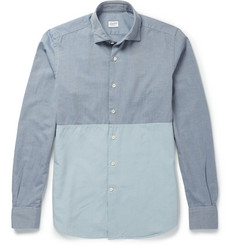 Incotex Two-Tone Cotton Oxford Shirt