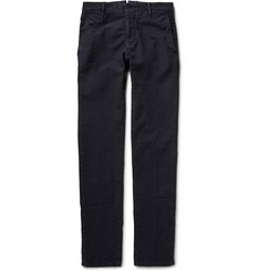 Incotex Brushed Cotton-Blend Twill Trousers