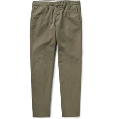 Incotex Slim-Fit Brushed Stretch-Cotton Twill Chinos