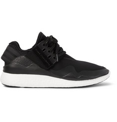 Y-3 Retro Boost Leather-Trimmed Neoprene Sneakers