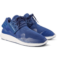 Y-3 Retro Boost Suede-Trimmed Neoprene Sneakers