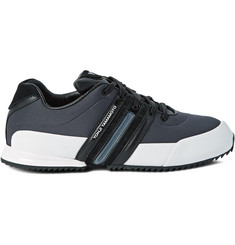 Y-3 Sprint Suede, Leather and Neoprene Sneakers
