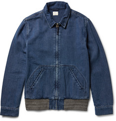 Faherty Indigo-Dyed Cotton-Canvas Jacket