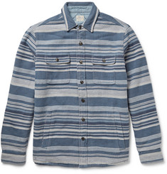 Faherty Durango Striped Cotton-Flannel Shirt Jacket
