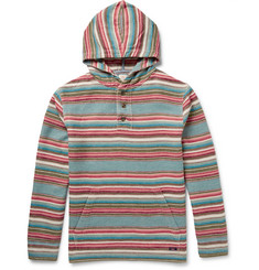 Faherty Striped Brushed-Cotton Hoodie