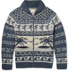 Faherty Alpaca and Wool-Blend Jacquard Cardigan
